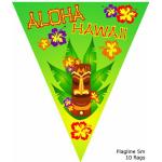 Vlaggenlijnen Aloha Hawaii