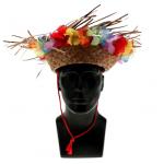 Stro hoed Hawaii tropical party